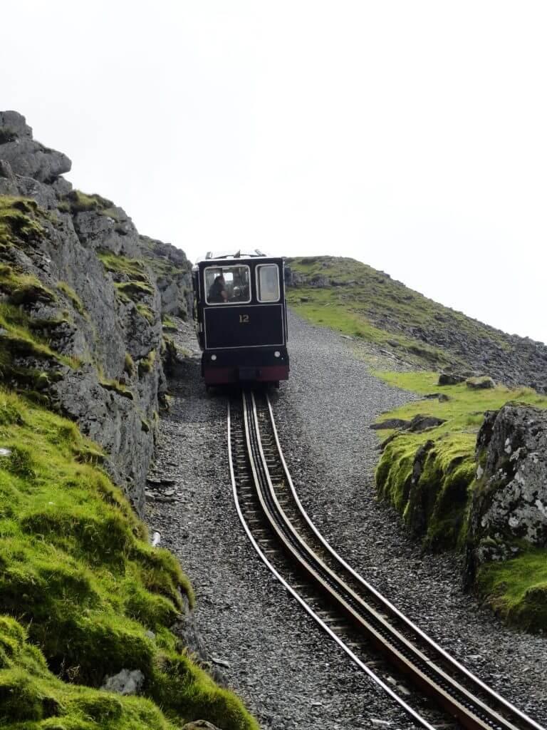 Zahnradbahn im Snowdonia Nationalpark