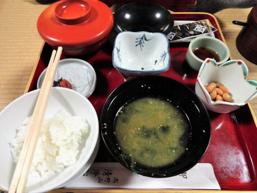 Koyasan - Abendessen