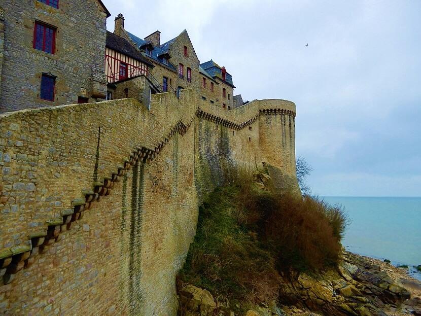 Mont Saint Michel Außenmauer