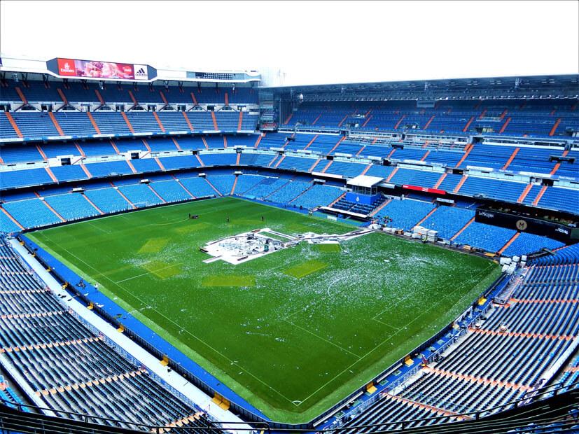 Madrid Stadion Bernabeu Panorama-Sicht