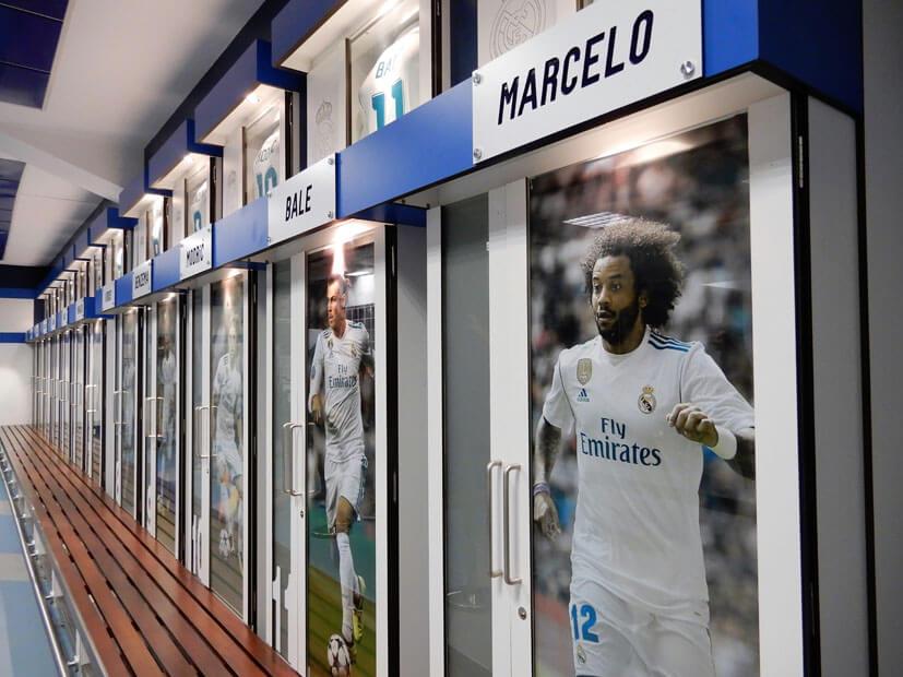 Umkleidekabine Real Madrid Stadion