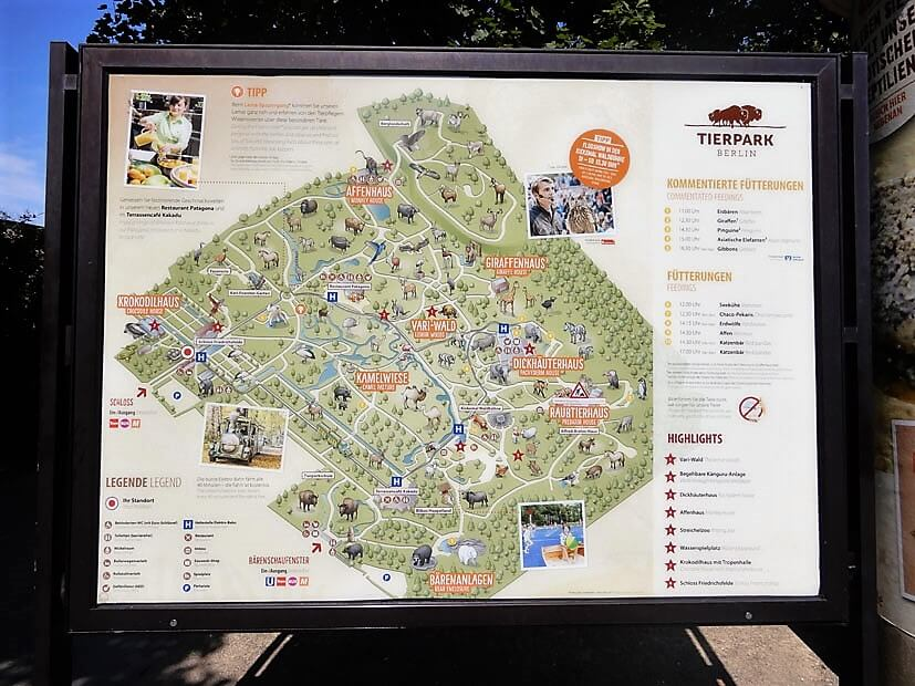 Karte Tierpark Berlin