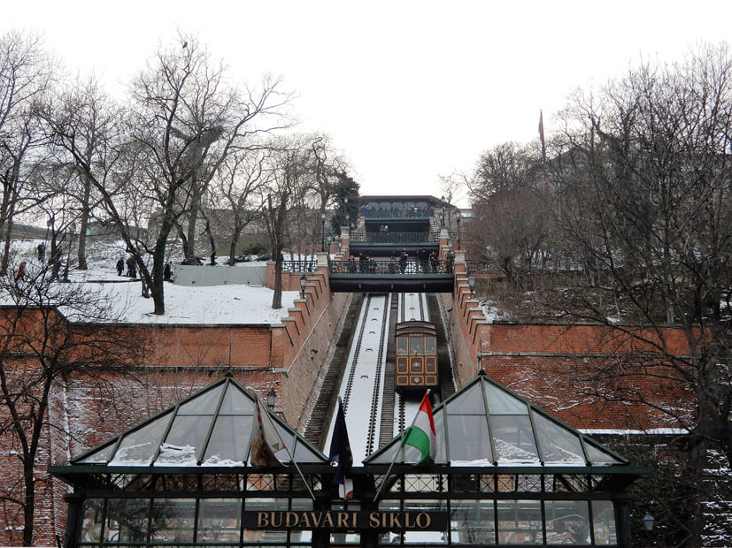 Standseilbahn - ein Highlight in Budapest