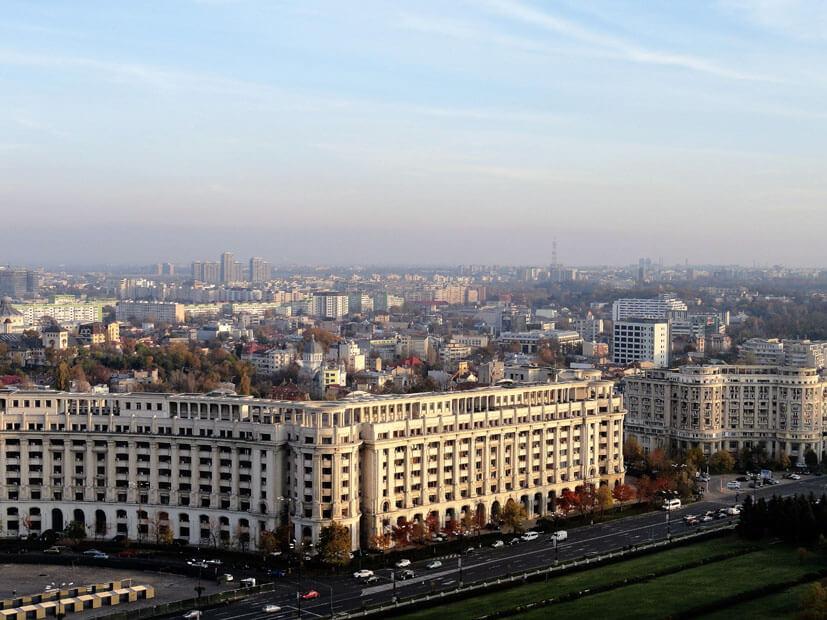 Aussicht über Bukarest