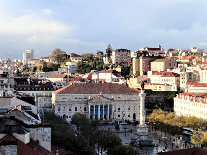 Praça Dom Pedro IV – Rossio Lissabon Sehenswürdigkeiten