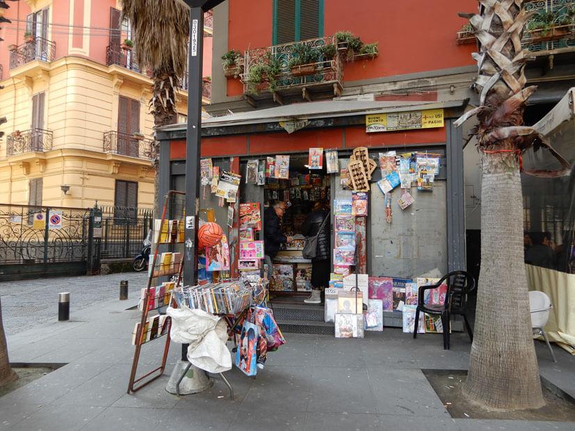 Kiosk in Neapel