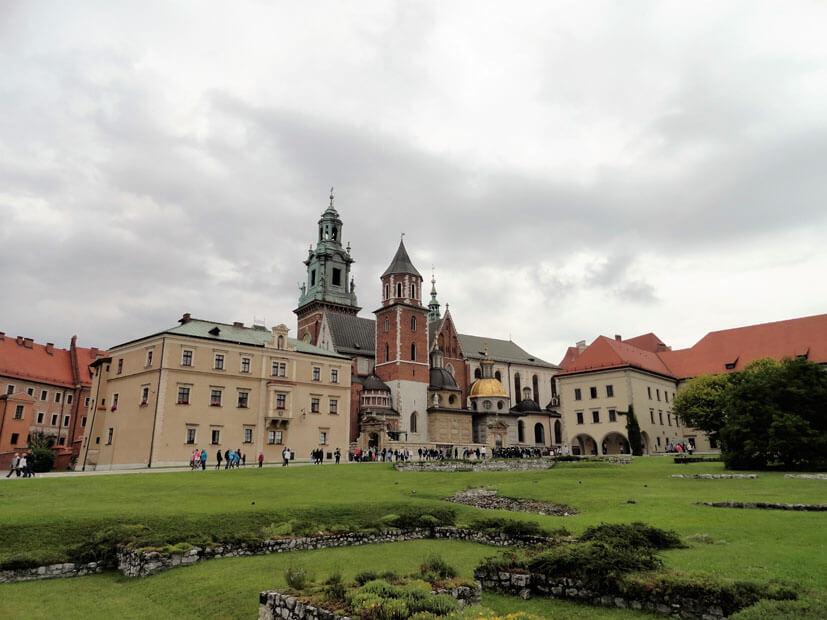 Burganlage Wawel - Krakau im Regen