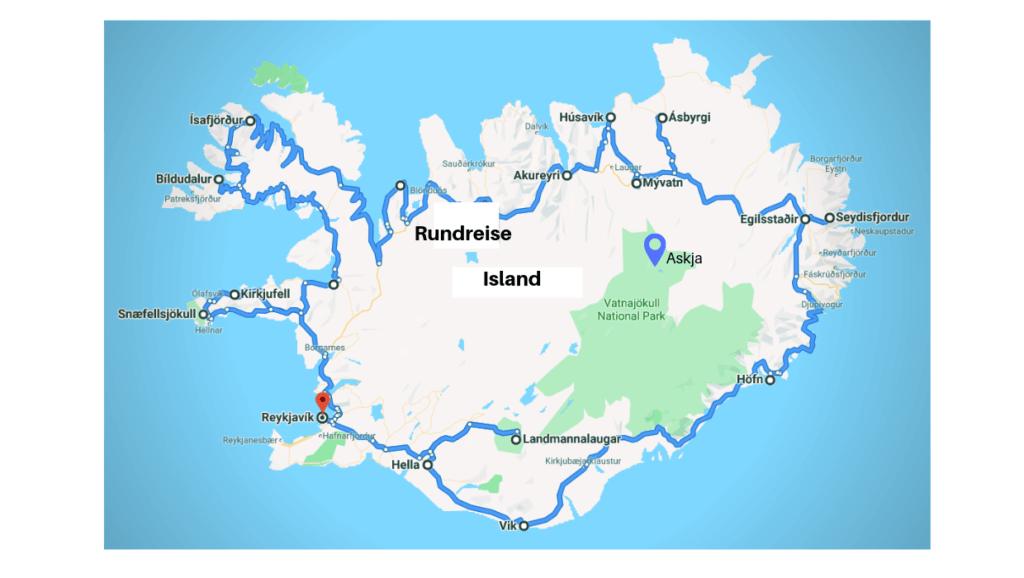 Rundreise Island