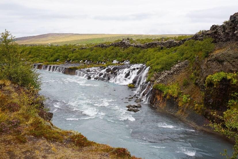 Island 2 Wochen - Hraunfossar und Barnafossar