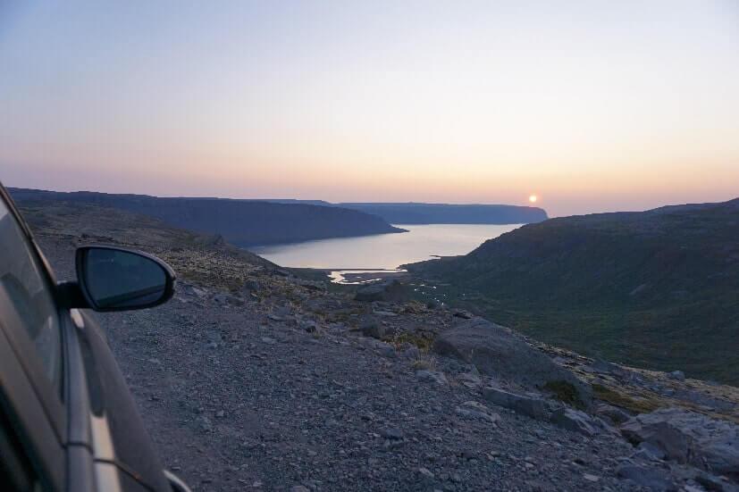 Straße Westfjorde