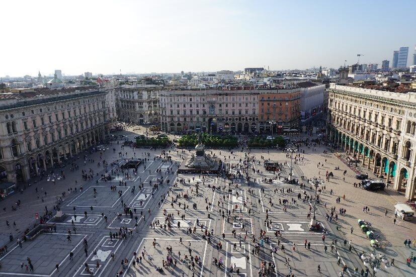 Aussicht vom Dom - Mailand Sehenswürdigkeiten