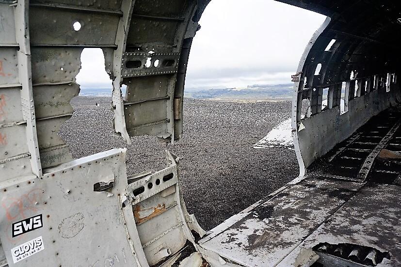 Flugzeugwrack Island von Innen