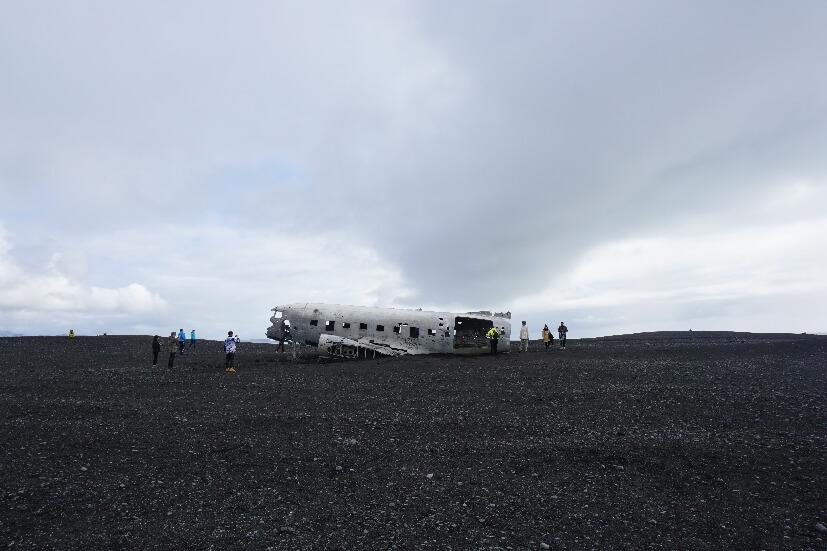 beliebte Attraktion - Flugzeugwrack