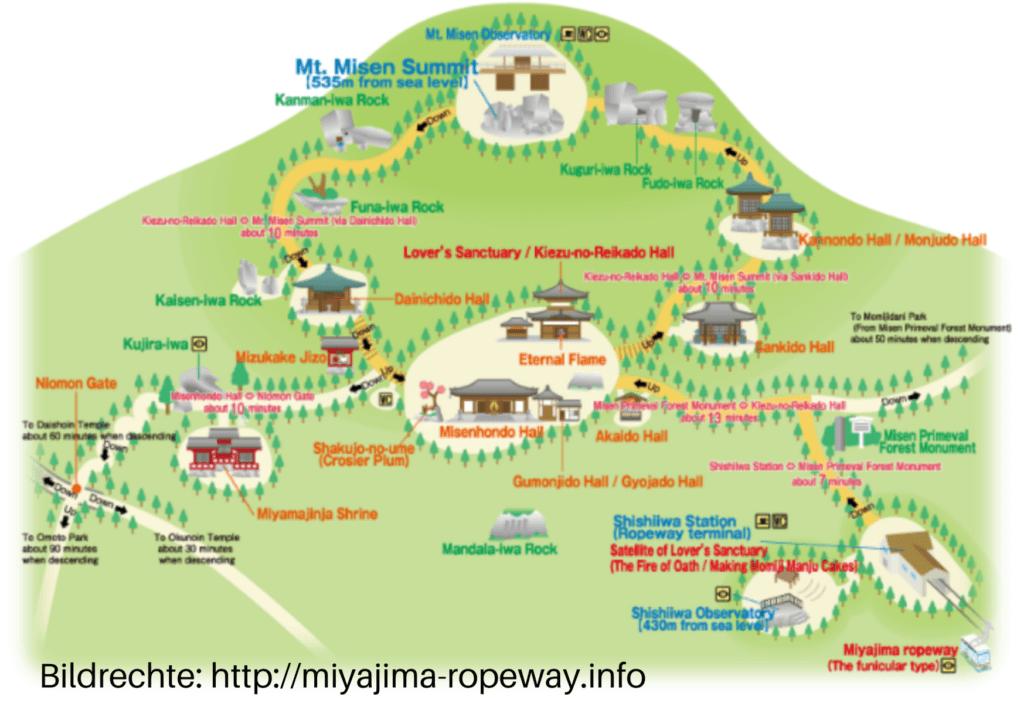 Karte Berg Misen