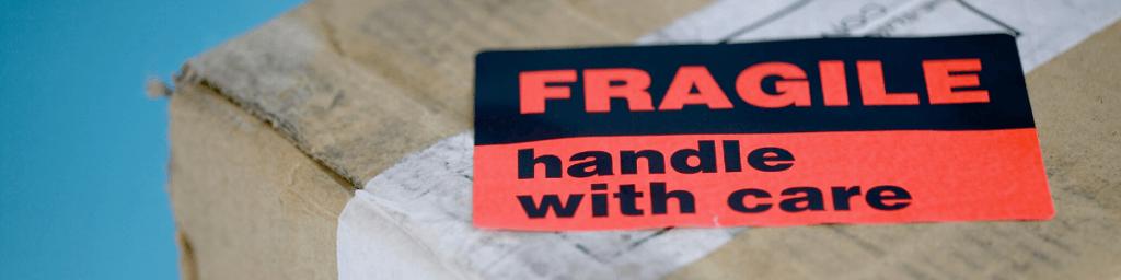 fragile Gepäck