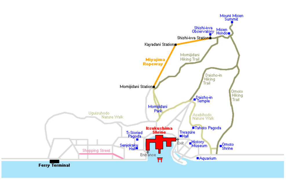 Karte Miyajima