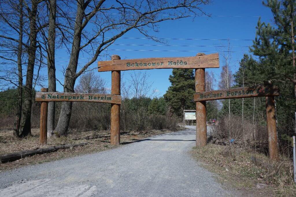 Eingang Schönower Heide