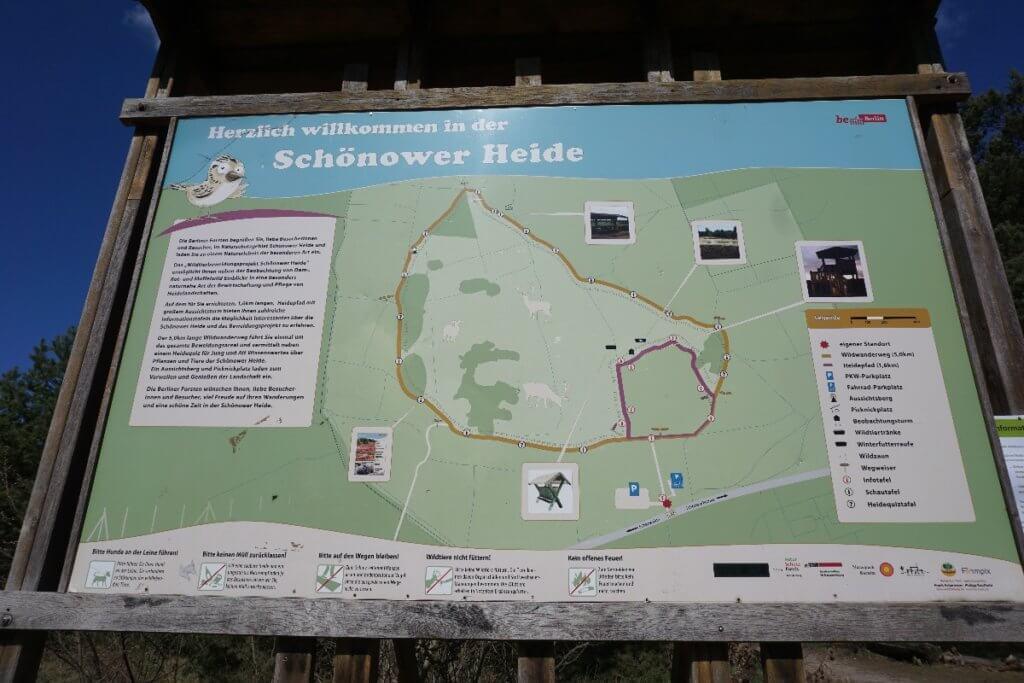 Schautafel am Eingang Schönower Heide