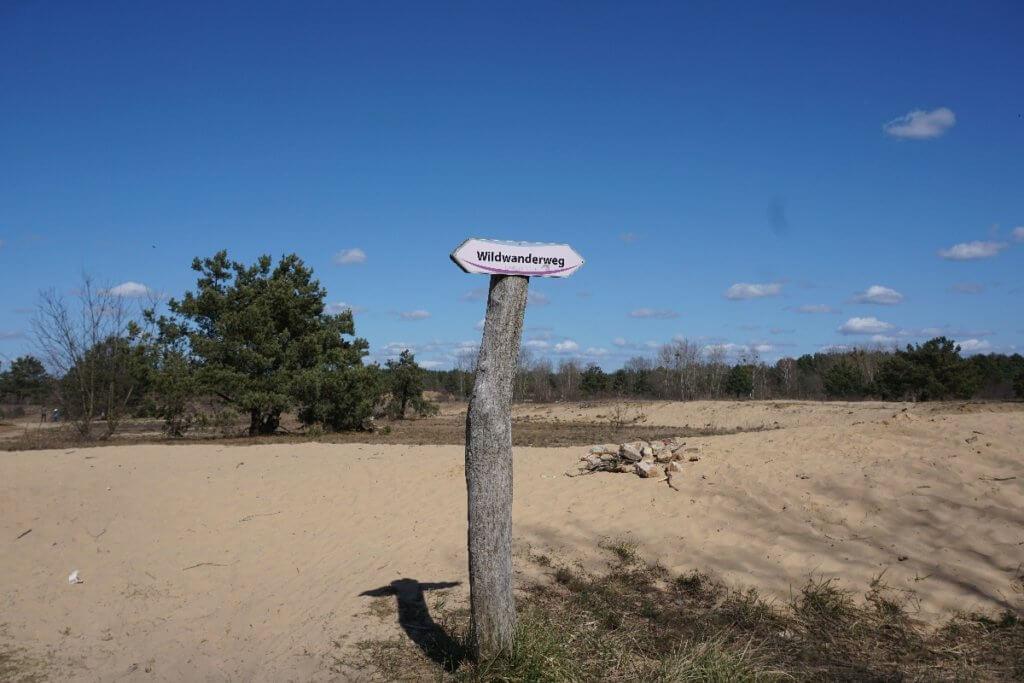 Wildwanderweg Schild