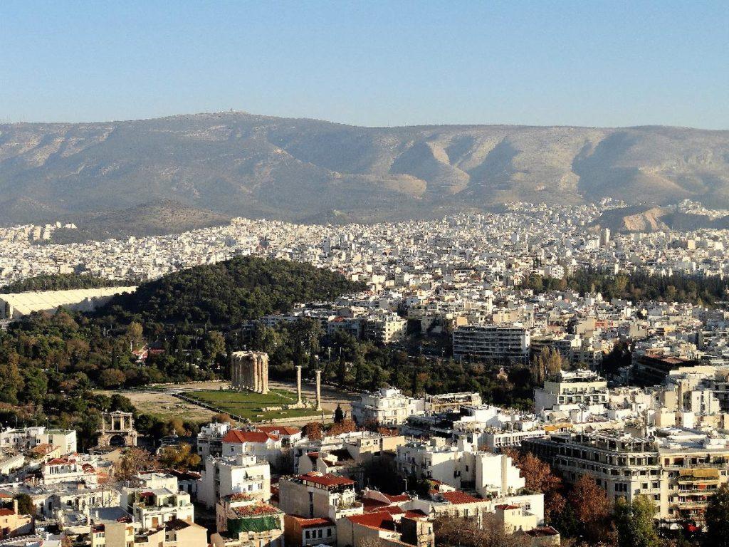 Blick über Athen - 2 Tage Athen im Winter