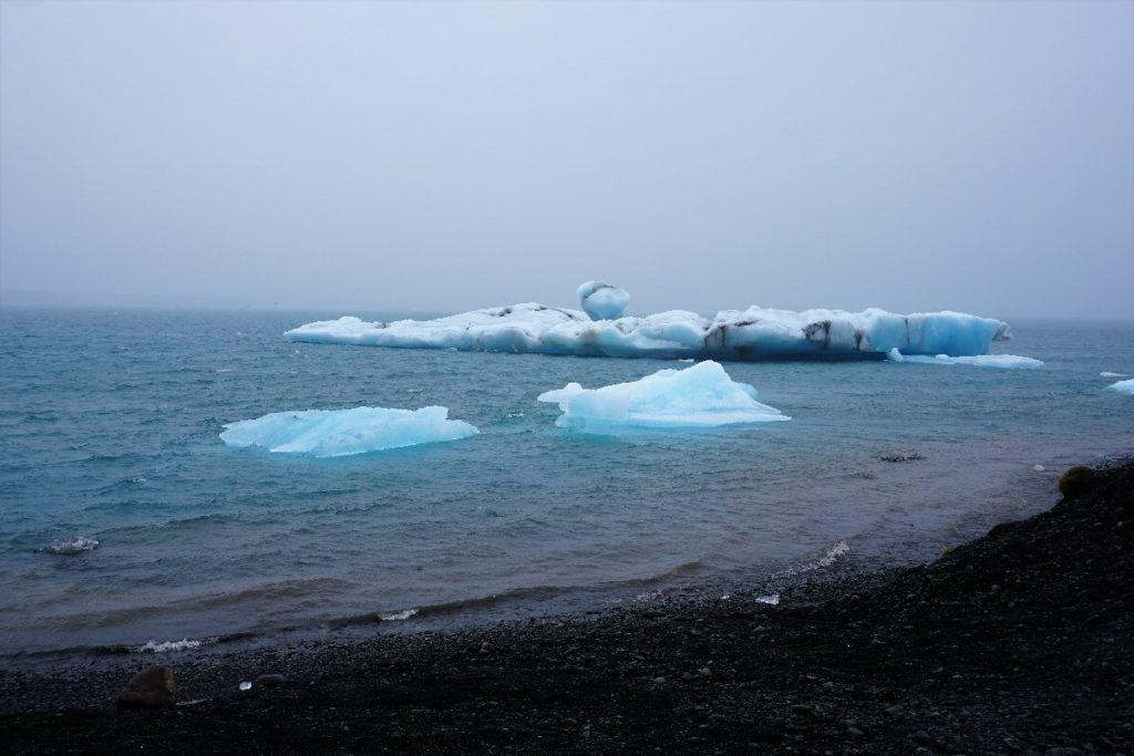 Eis im Meer Island