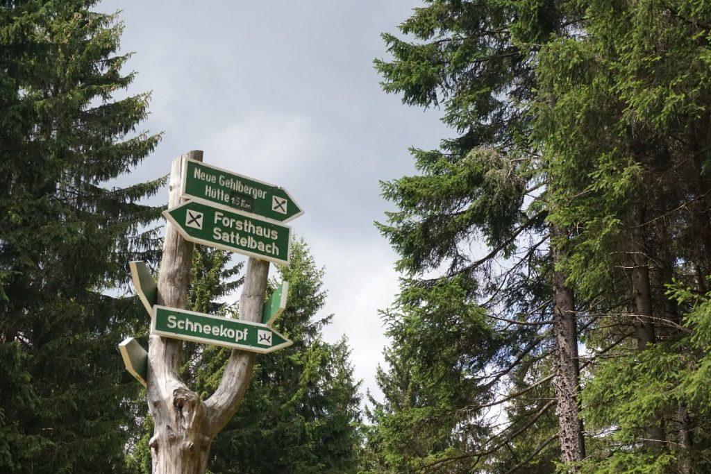 Schilder Schneekopf Wanderung