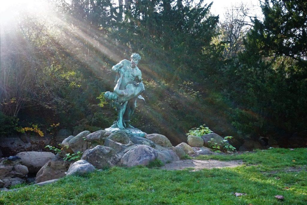 der seltene Fang Skulptur