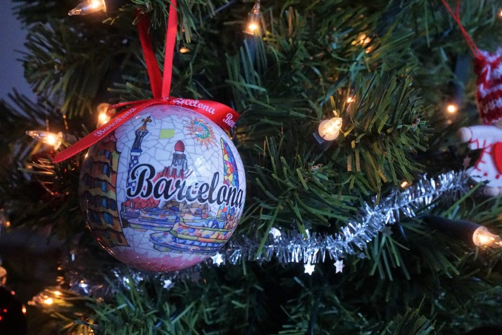 Barcelona Weihnachtskugel