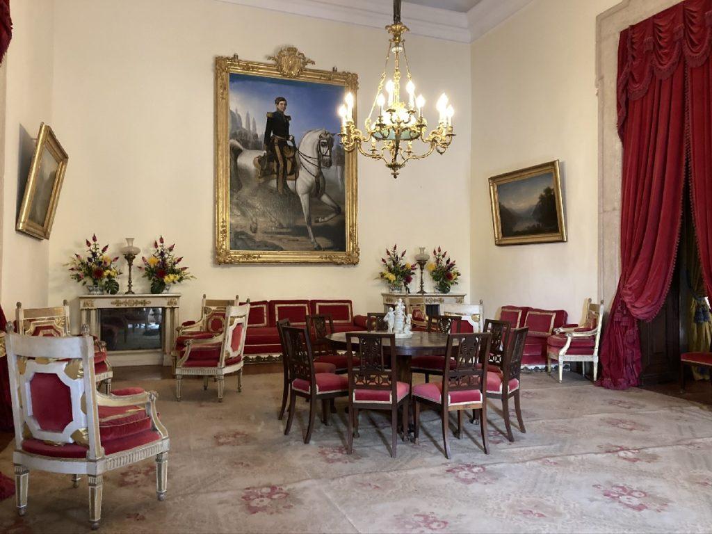 Nationalpalast Mafra - roter Raum