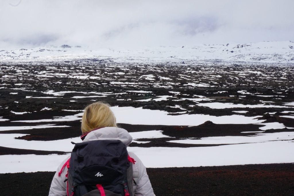 Askja Landschaft mit Schnee