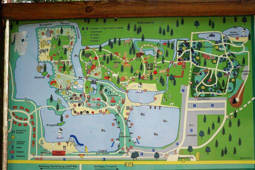 Übersichtkarte Park