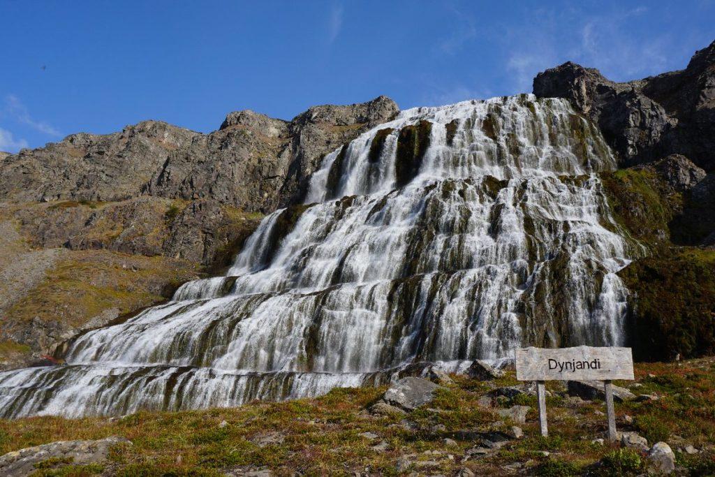 Dynjandi Wasserfall Island