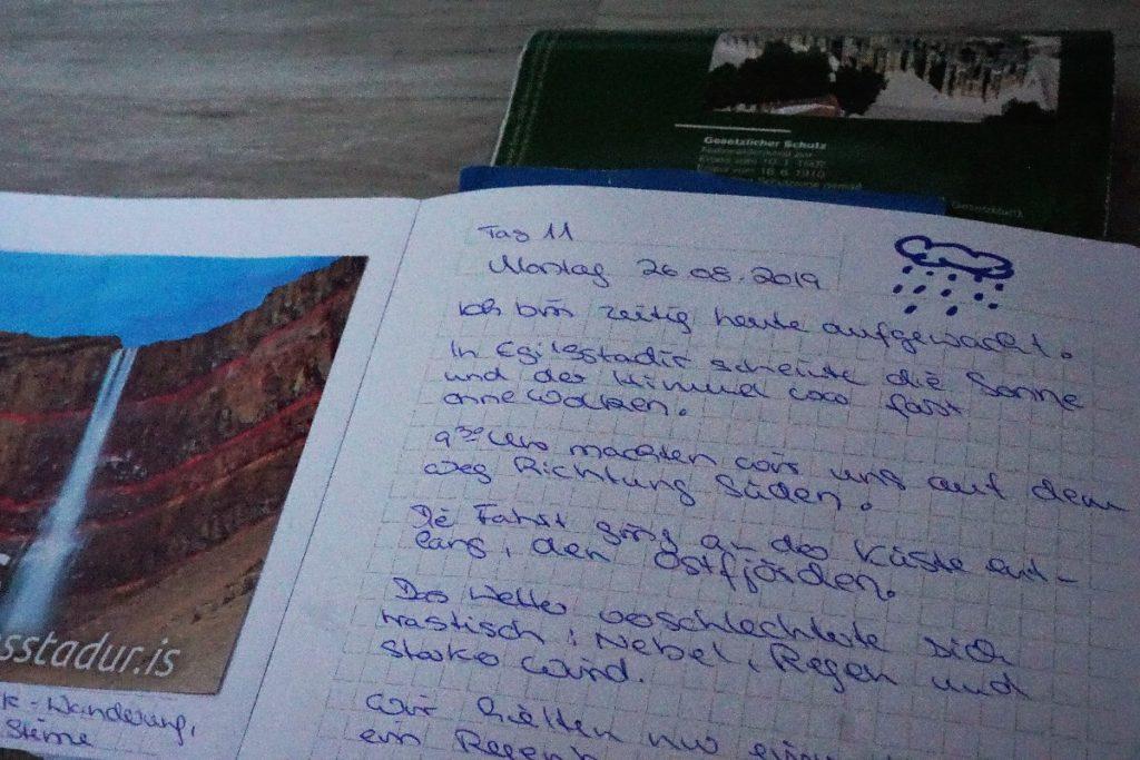 Reisetagebuch schreiben - Datum